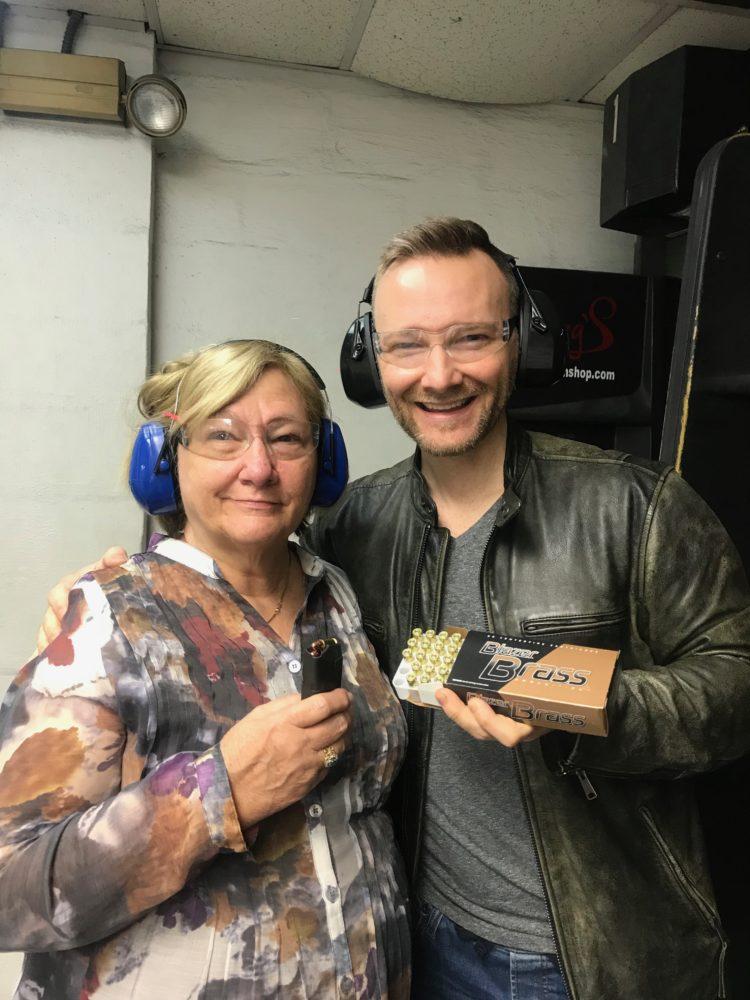 CB & Dan at the gun range
