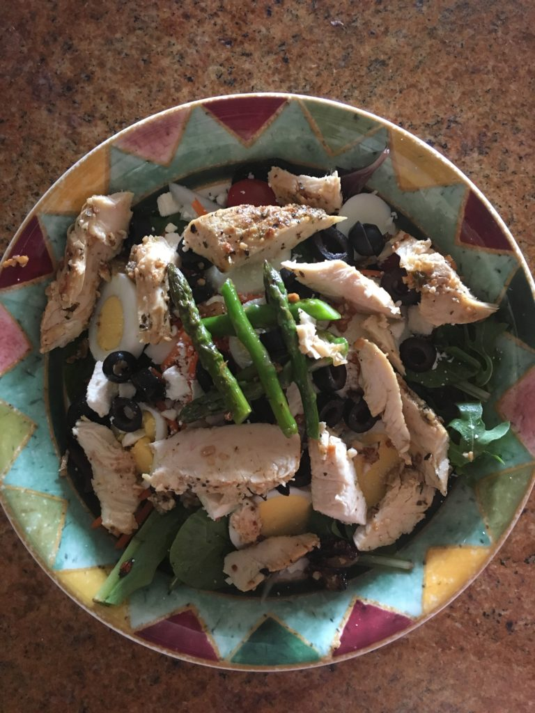 Chicken and asparagus salad