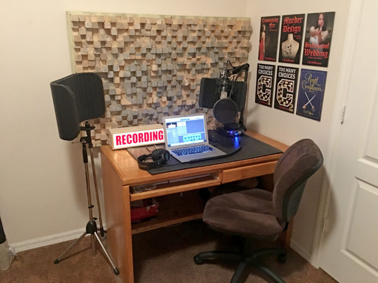 "CB's audio recording studio ""before"" photo"