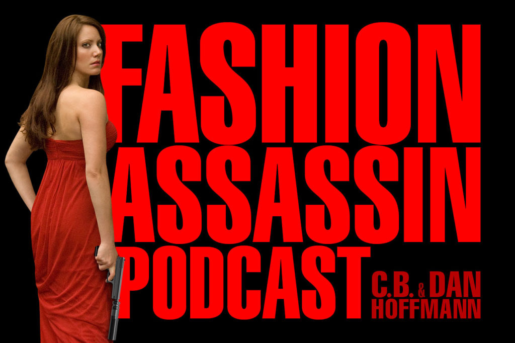 Fashion Assassin Podcast featured artwork of the forthcoming audio drama podcast from CB Hoffmann and Dan Hoffmann