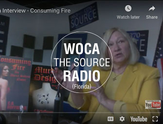 Screenshot of the author, C.B. Hoffmann on WOCA The Source Radio