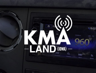 Screenshot of the mother & son self-publishing team of C.B. Hoffmann & Dan Hoffmann on KMA Land Dean and Friends Radio