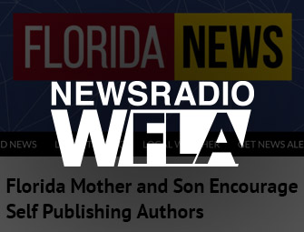 Screenshot of the mother & son self-publishing team of C.B. Hoffmann & Dan Hoffmann on WFLA News Talk Radio