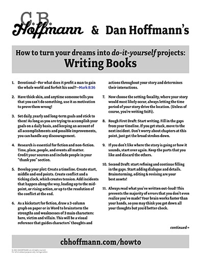 C.B. Hoffmann & Dan Hoffmann's How to turn your dreams into do-it-yourself projects: Writing Books